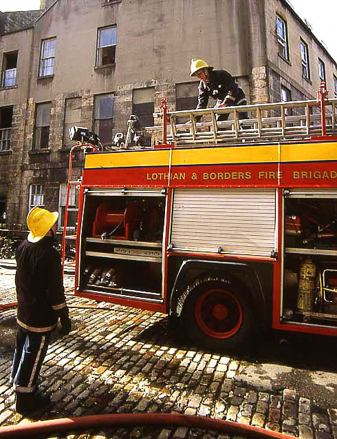Fire at  Union Street, Edinburgh  -  13 March 1993