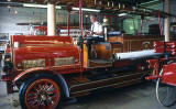 An old Leith Fire Brigade fire engine in the museum at Lauriston Place Fire Station  -  26 July 1994