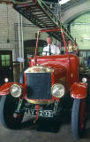 An old Dennis fire engine in the museum at Lauriston Place Fire Station  -  26 July 1994