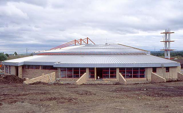 Newcraighall Fire Station under construction  -  26 July 1994