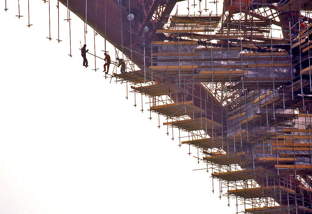 The Forth Bridge  -  Scaffolders at Work