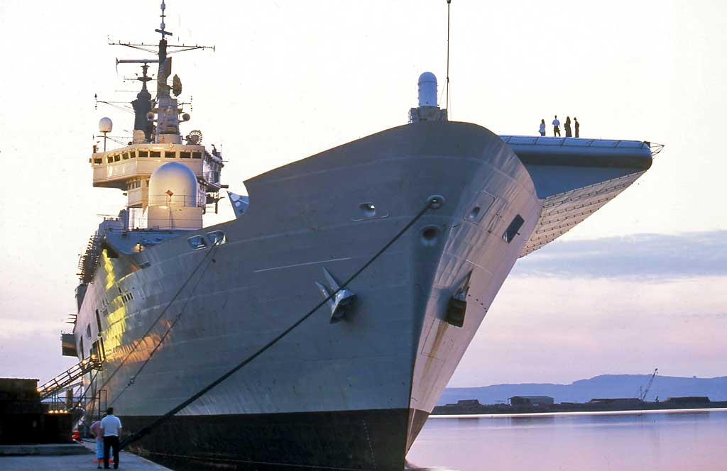 The Ark Royal at Leith Docks