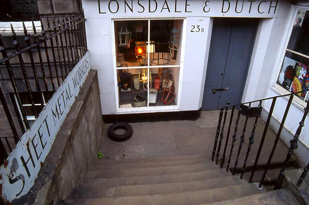 Lonsdale & Dutch  -  Tinsmiths  -  Howe Street, Edinburgh New Town  -   1992