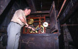 Ritchie - Clock Winder at work at St Stephen's Church - 1993