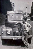 Lorry belonging to Roberet Lamb who owned the Wood flour Mill, 23 Dunedin Street