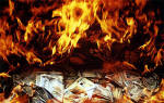 Edinburgh at Work  -  Burning old banknotes