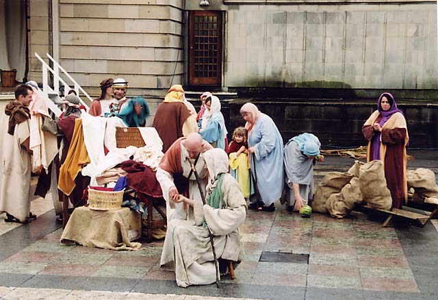 The Easter Play in West Princes Street Gardens  -  26 March 2005  -  The Temple