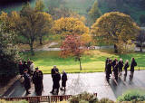 Photograph by Peter Stubbs  -  Edinburgh  -  November 2002  -  Remembrance Sunday in East Princes Street Gardens