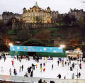 Photograph by Peter Stubbs  -  Edinburgh  -  December 2002  -  The Ice Skating Rink in East Princes Street Gardens