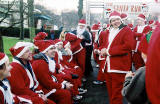 Santas in West Princes Street Gardens  -  December 2004