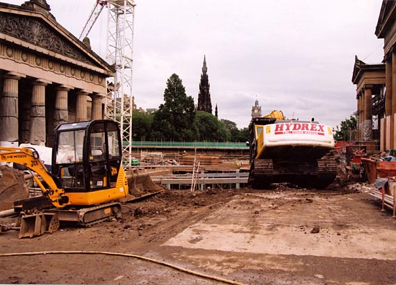 National Galleries  -   Excavation work for the Playfair Project   -  7 August 2002