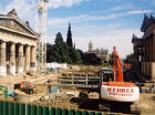 The National Galleries  -  Excavation work for the Playfair Project  -  20 August 2001