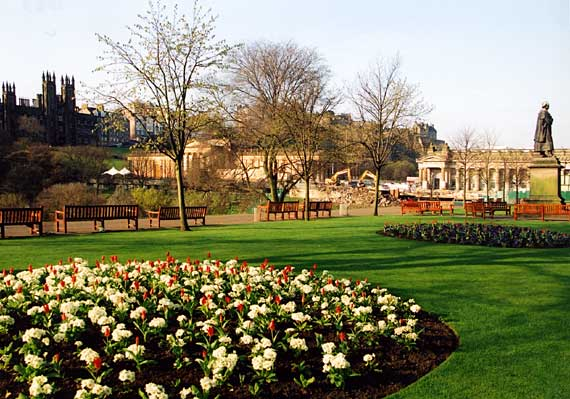 The National Galleries, seen from Princes Street Gardens  -  April 2003