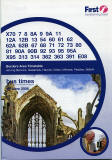 Photograph of Melrose Abbey on the cover of a First Bus Timetable, Borders Area