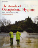 Cover of 'The Annals of Occupational Hygiene Magazine  -  Cleaning the pavement in Princes Street