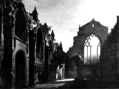 Holyrood Chapel  -  Painting by Daguerre