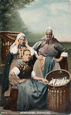 Newhaven Fishwives  -  Hartmann Postcard in the name of Durie Brown & Co.