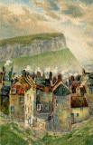 Castle Postcards - Offset Series  -  Old Houses and Salisbury Crags