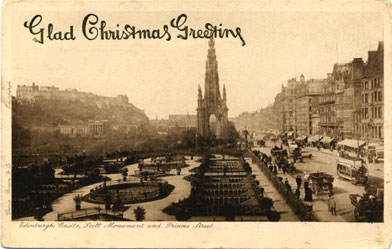 Durie Brown - Post Card with Christmas Greeting