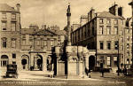 The Mercat Cross and City Chambers  -  A Postcard by W J Hay in the 'Knox series'