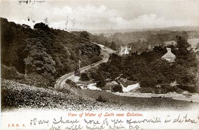 View of Water of Leith near Colinton  -  Post Card  -  A Hutcheson