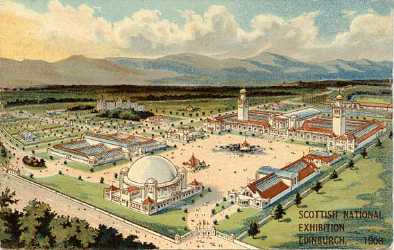 William Thyne Postcard  -  The Scottish National Exhibition, 1908
