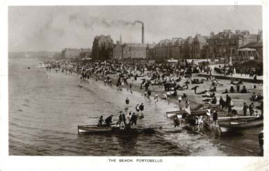 Post Card - Portobello Beachj - William Thyne