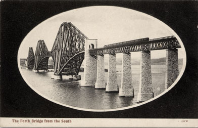Post Card  -  The Forth Rail Bridge  -  George Washington Wilson