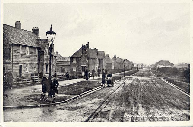 Boswall Drive  -  Photographed soon after the houses were built in the early 1920s