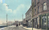 Postcard by an unidentified publisher  -  Trinity Crescent, looking to the east towards Newhaven