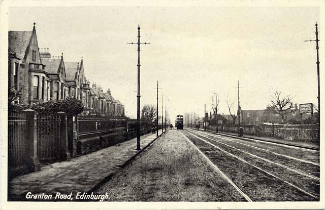 Granton Road  -  View from near Ferry Road, looking towards Granton Road Station