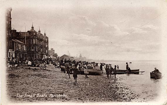 Postcard  -  The Small Boats, Portobello