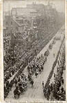 Postcard by an unidentified publisher  -    Royal Procession of King Edward VII and Queen Alexandra in Princes Street, 1903