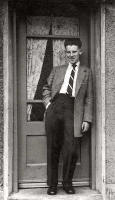 Bob Henderson at 41 Burdiehouse Avenue, aged 16
