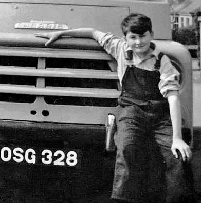 George Field and his grandfather's van