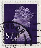Queen Elizabeth II stamp  -  5.5p