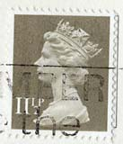 Queen Elizabeth II stamp  -  11p