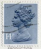 Queen Elizabeth II stamp  -  14p
