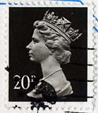 Queen Elizabeth II stamp  -  20p