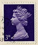3d stamp used on postcard