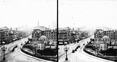Looking east from the Scott Monument - Stereoscopic View by Thomas Vernon Begbie
