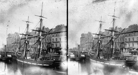 Leith Shore - Stereoscopic View by Begbie
