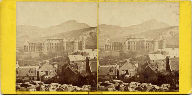 Stereo View by Archibald Burns  -  Holyrood Palace