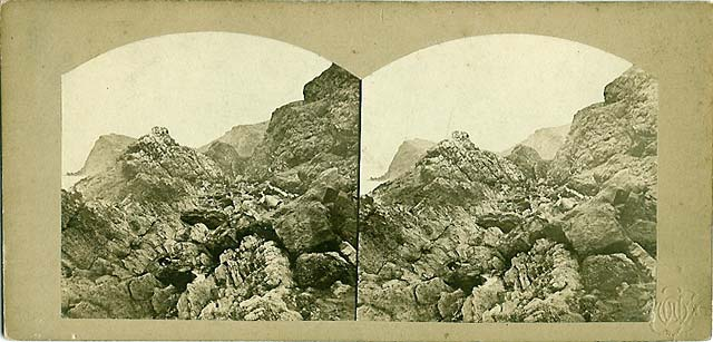Stereoview of Inchkeith by Archibald Burns