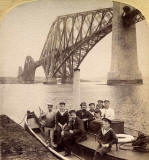 Enlargement of a stereo view in Excelsior Stereoscopic Tours series  -  Forth Rail Bridge