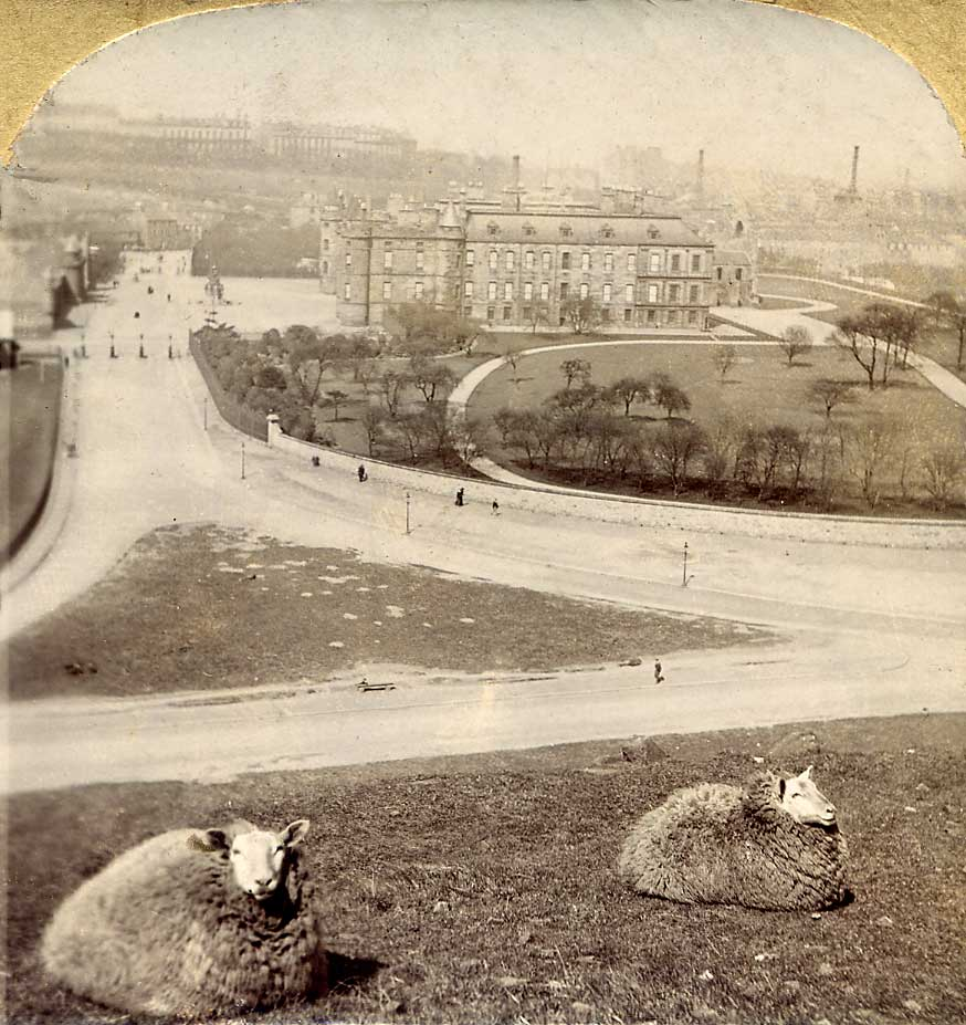 Stereo view in Albemable series  -  Holyrood Palace