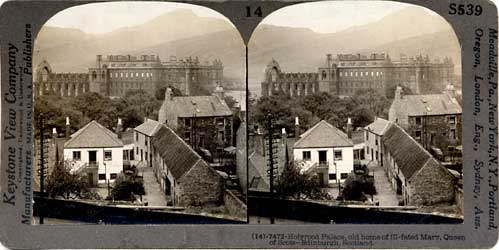 Stereo View looking to Holyrood Abbey and Palace  -  by Keystone View Company