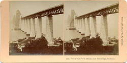 Stereo View by BW Kilburn  -  Waverley Bridge, looking towards Princes Street