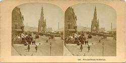 Stereo view by Kilburn Brothers  -  Princes Street