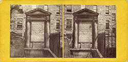 Lennie  -  Stereo views of the Martyrs' Tomb in Greyfriar's Churchyard